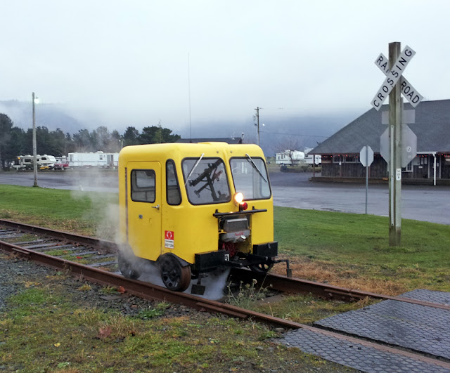 Speeders on the old Port of Tillamook Bay Railroad in Wheeler, Oregon - Subcompact Culture