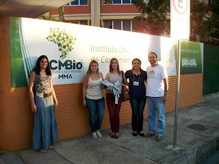 Estudantes de Ciências Biológicas do UNIFESO Teresópolis no V Encontro de Iniciação Científica do ICMBio