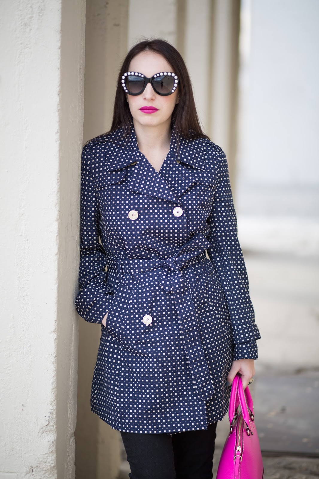 Johnston and Murphy Square Dot Trench Coat