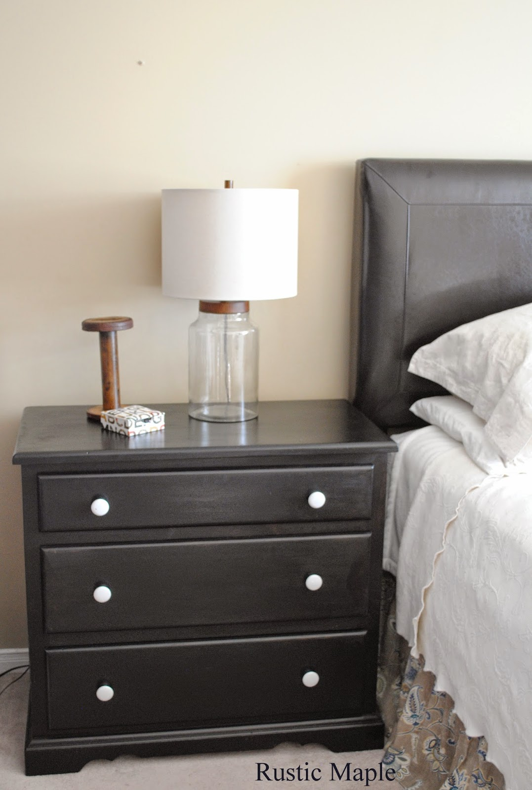 Three Drawer Dresser Painted General Finishes Lamp Black