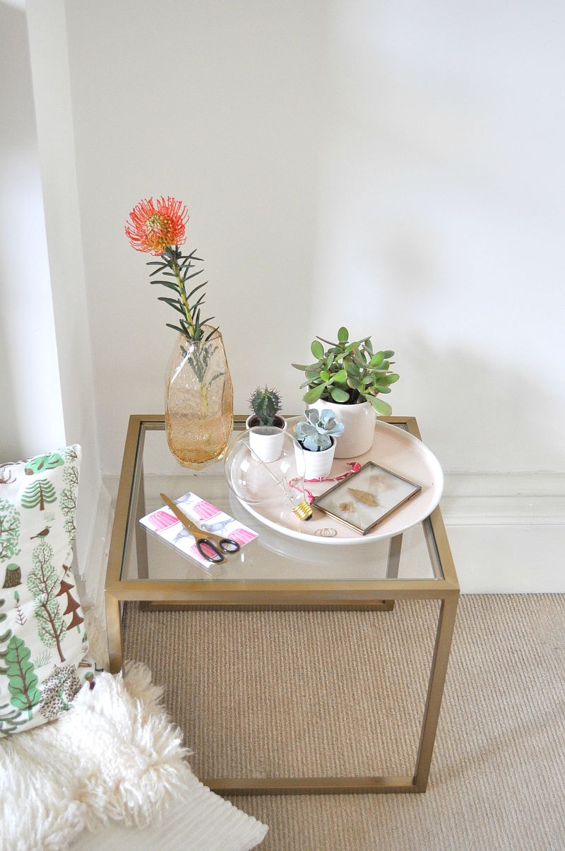 display your objects on a small side table