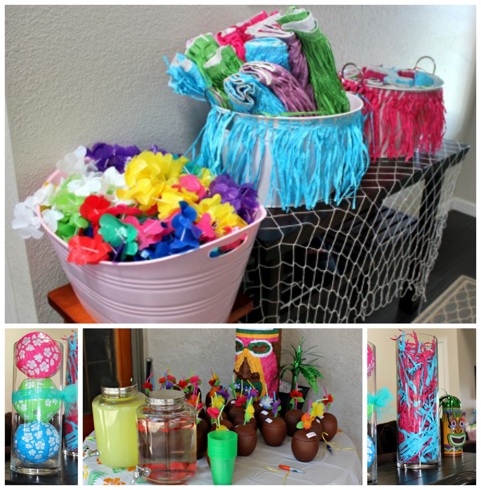 Luau party ideas the naptime reviewer for Hawaiin decorations