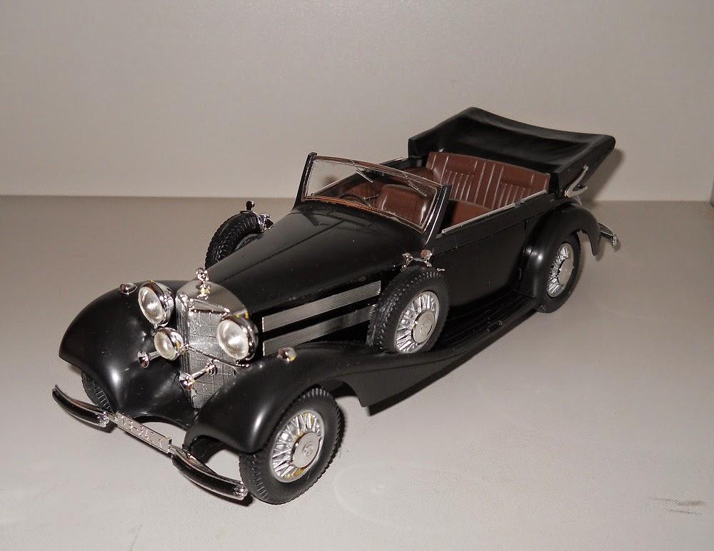 maqueta de coche clásico mercedes benz