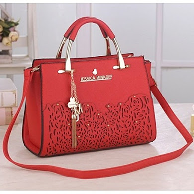 JESSICA MINKOFF DESIGNER BAG - RED