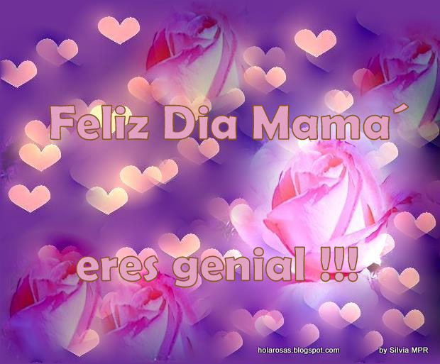 corazones y rosas rosadas para regalarle a mama