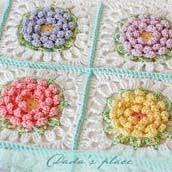 Victorian Flower Baby Blanket Pattern