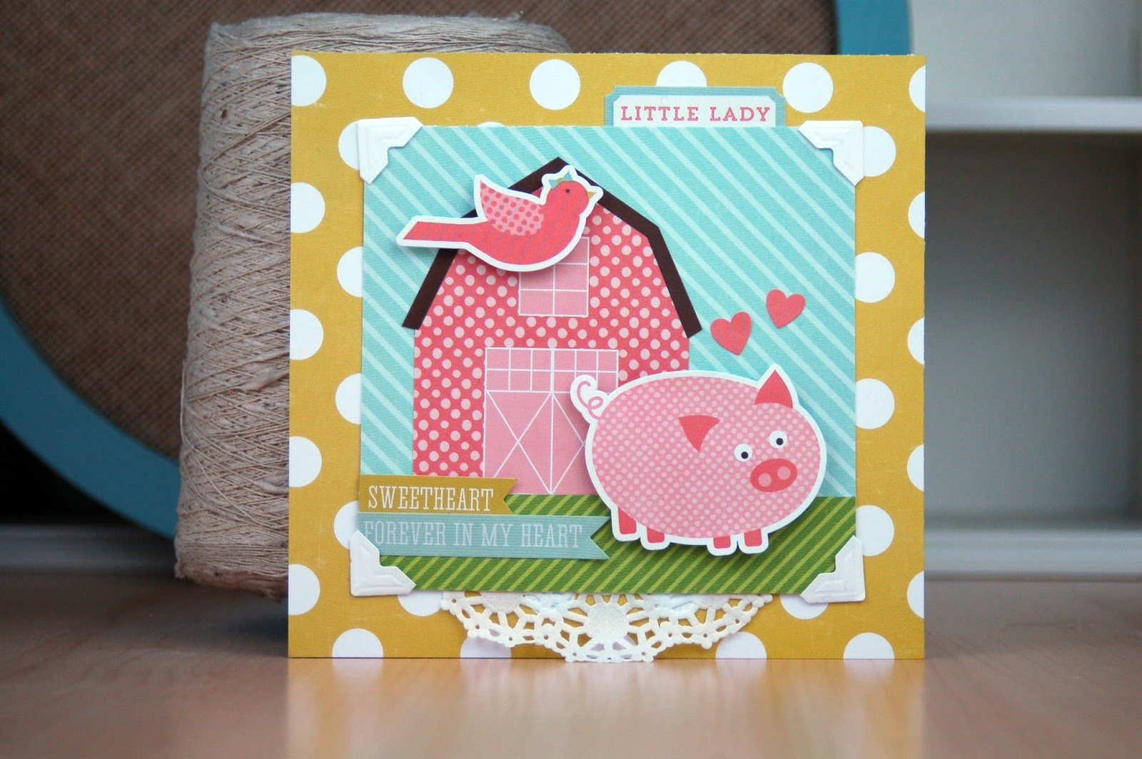 Baby Girl Card by Jen Gallacher from www.jengallacher.com