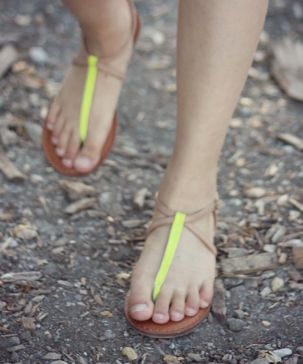 summer neon sandals