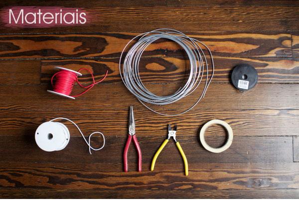 materiais necessários para fazer um cabideiro tipo gráfico