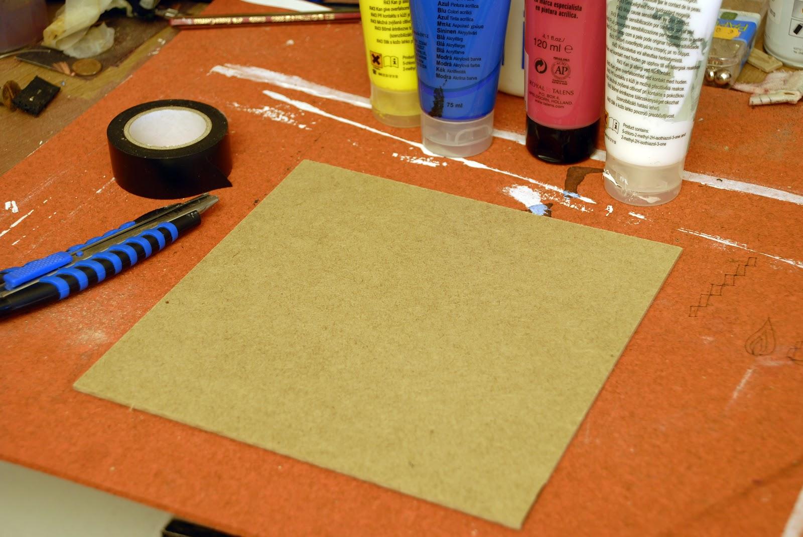 Composición con plantilla de cinta adhesiva   ProcesArt.