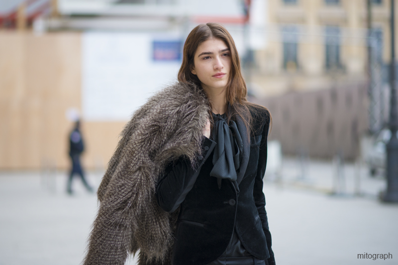 mitograph Model Off Duty After Ann Demeulemeester Paris Fashion Week 2013 2014 Fall Winter PFW Street Style Shimpei Mito