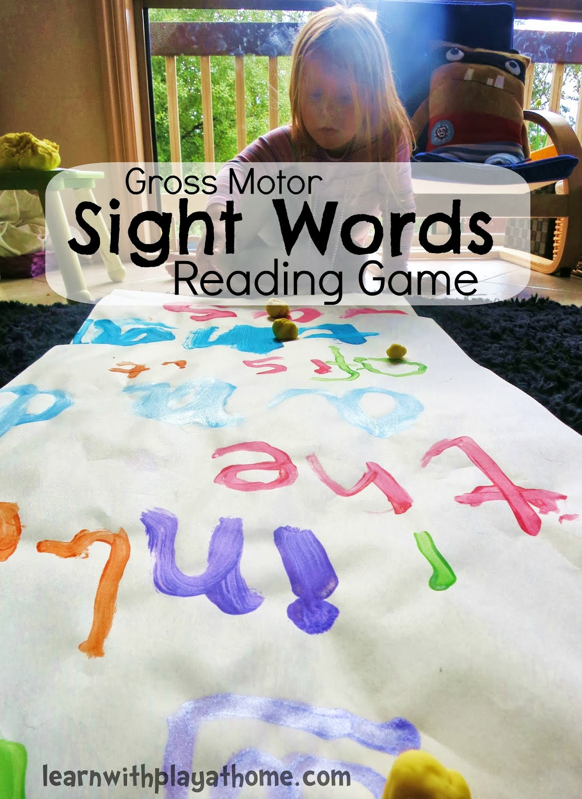 Sight words reading Game Reading Words. Learning  sight Motor and Gross