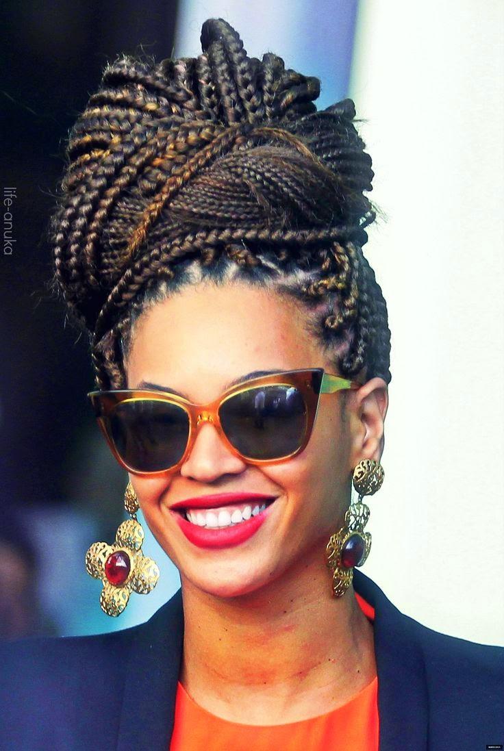 femme black cheveux chic mode