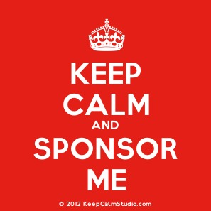 Keep calm and sponsor me