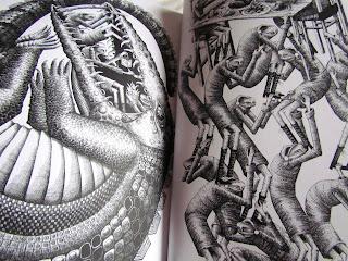 Phlegm comics, book, reading, street art,  crocodile