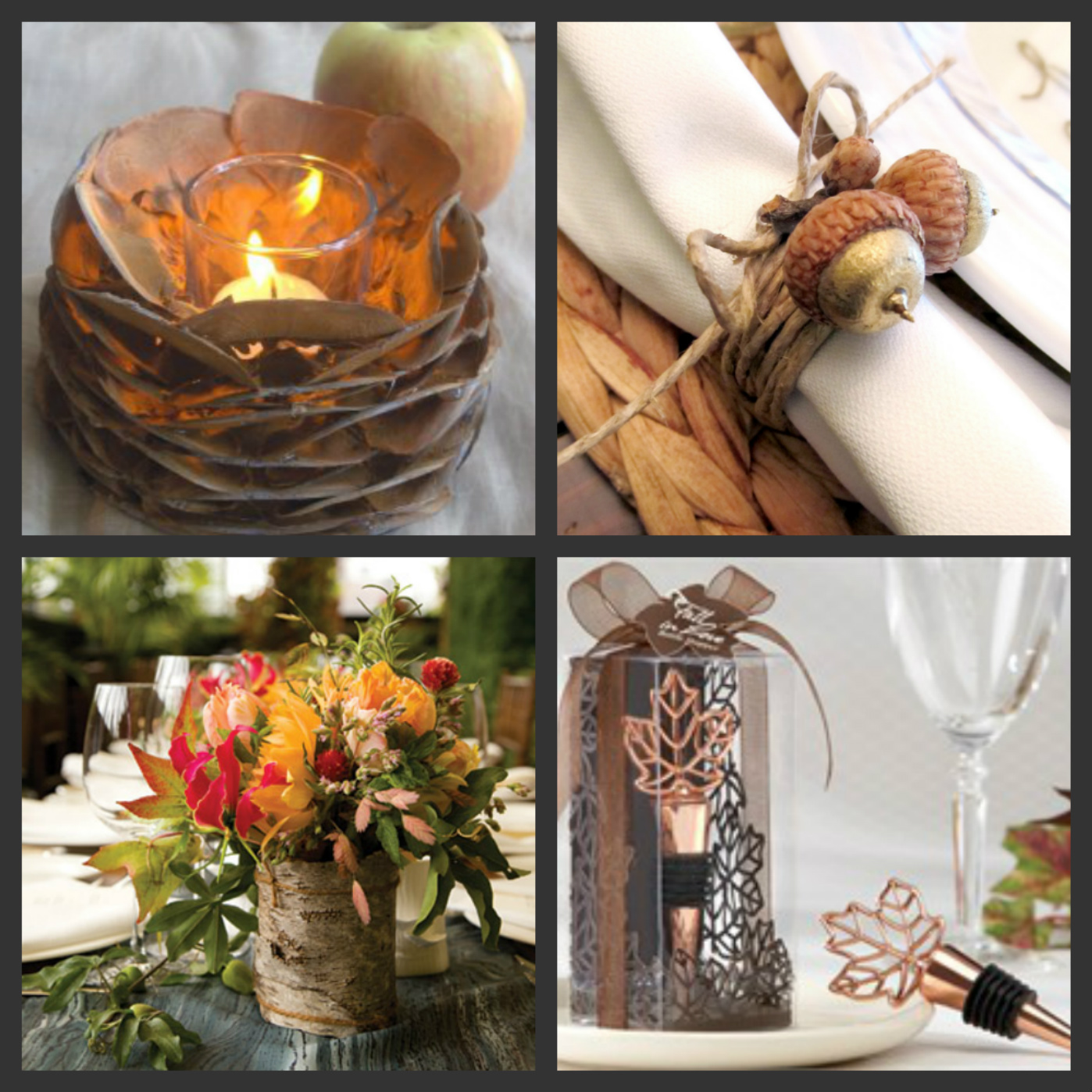 Weddings are fun blog diy autumn wedding tables for Autumn wedding decoration ideas