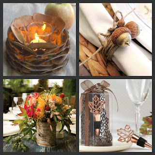 Weddings Are Fun Blog DIY Autumn Wedding Tables Decorations Using Items From Your Yard