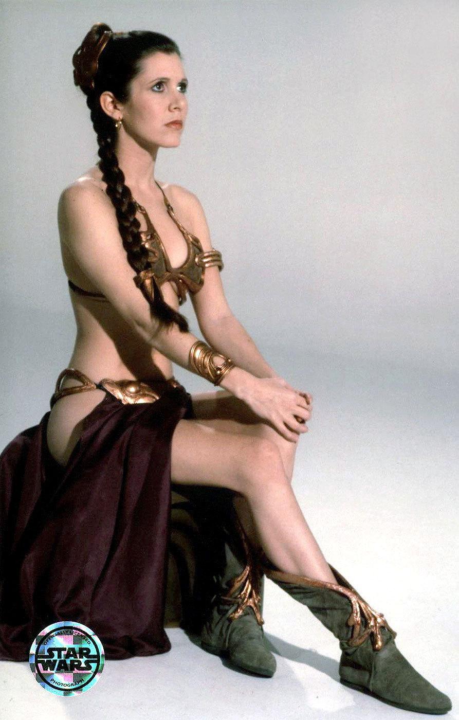 Slave Leia bikini and braids.