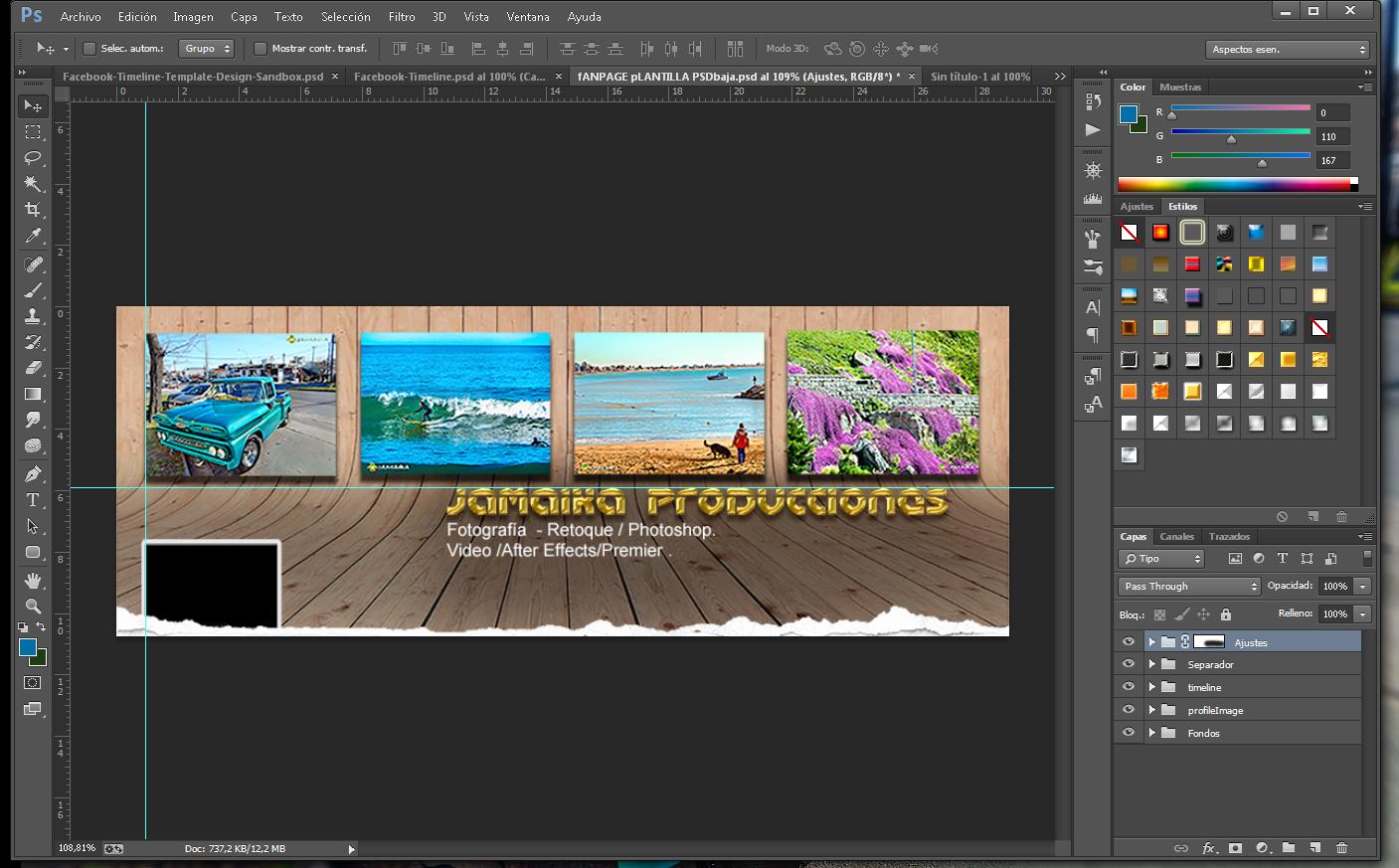 Jamaika Producciones: Plantilla Photoshop - Facebook Portada ...