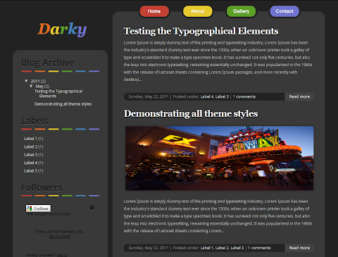 Darky Blogger Theme