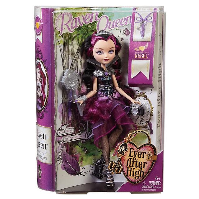 Muñeca Raven Queen caja