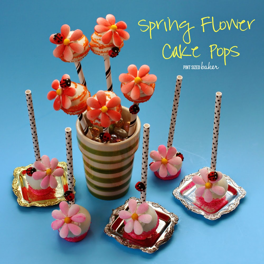 Easy Candy Flower Cake Pops Pint Sized Baker