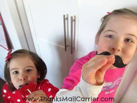 mustache lips valentines