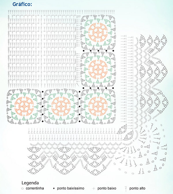 Carpets With Crochet Squares Corners Different Graphical