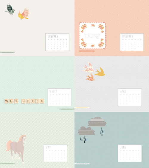 LoveMae2013 calendars January 2013 Calendar and Illustrated Desktop Background Wallpapers