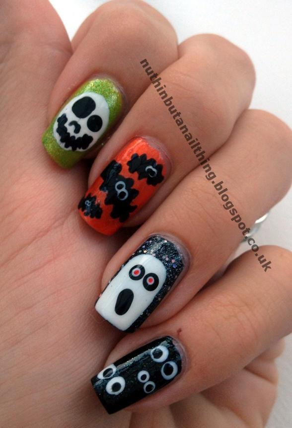 Amazing Halloween Nail Tip Designs Image - Nail Art Ideas - morihati.com