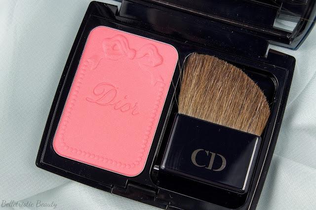 Dior Corail Coral Bagatelle 763 Diorblush Trianon Edition Vibrant Color Powder Blush in studio lighting