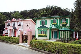 There are 2 versions of the homes, one in pink and also the alternative one  is in inexperienced