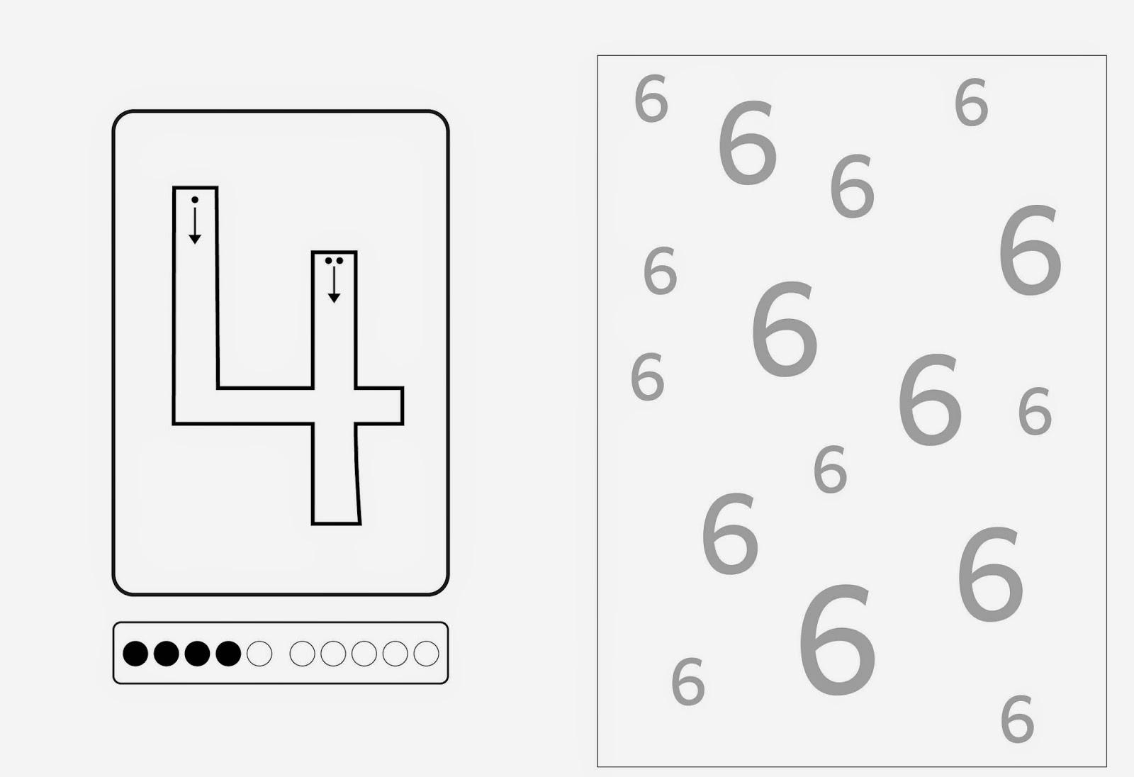 Lernstbchen Ziffernschreibkurs 4 5 6 groe Zahlen 2