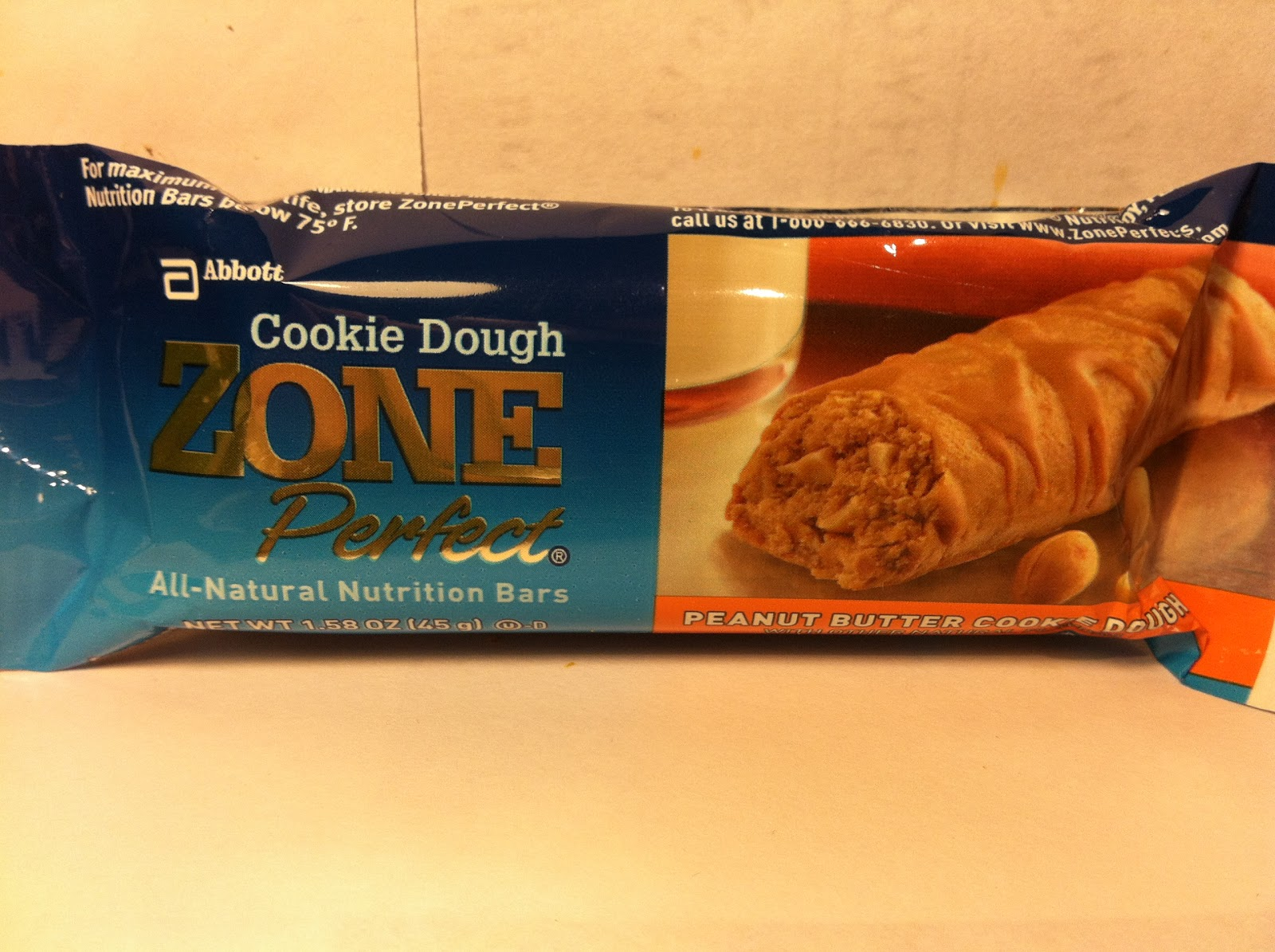 Crazy food dude review zone perfect cookie dough peanut for Food bar t zone