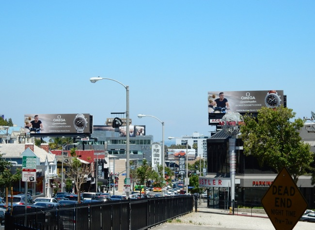 George Clooney Omega watch billboards