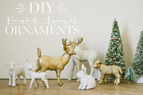 Vintage whites blog diy painted animal ornaments diy painted animal ornaments solutioingenieria Gallery