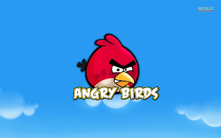 Special Holiday christmas angry birds desktop background