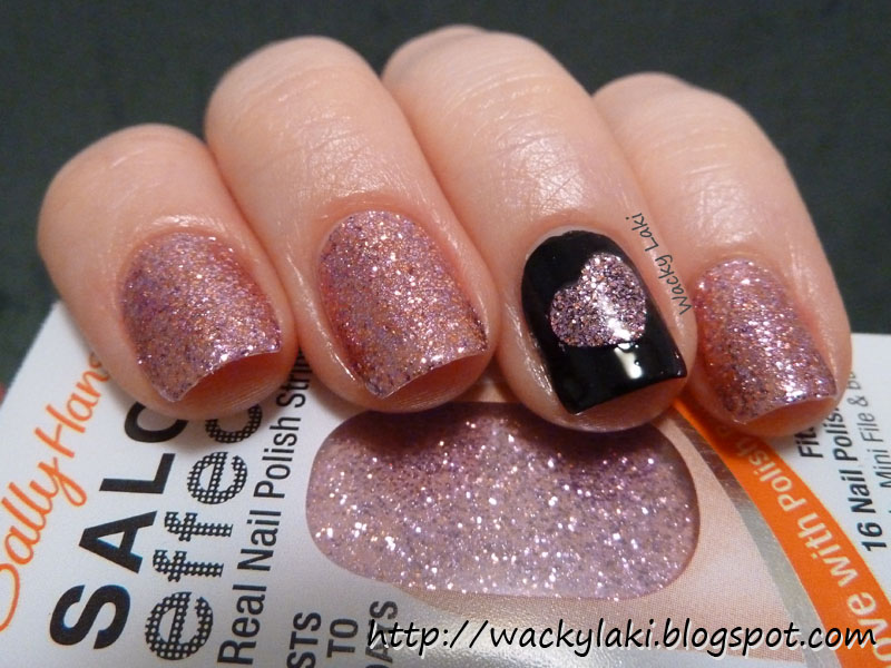 Wacky Laki Sally Hansen Salon Effects Bling It On For Valentines Day