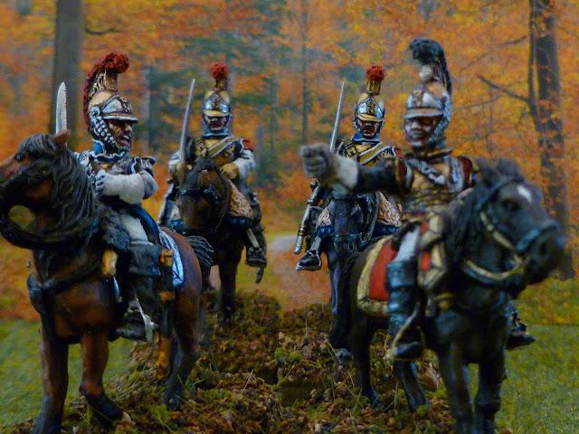 1er Régiment de Carabiniers français (1812-1815) en tenue de campagne.