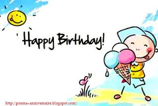 Joyeux anniversaire ma chère amie