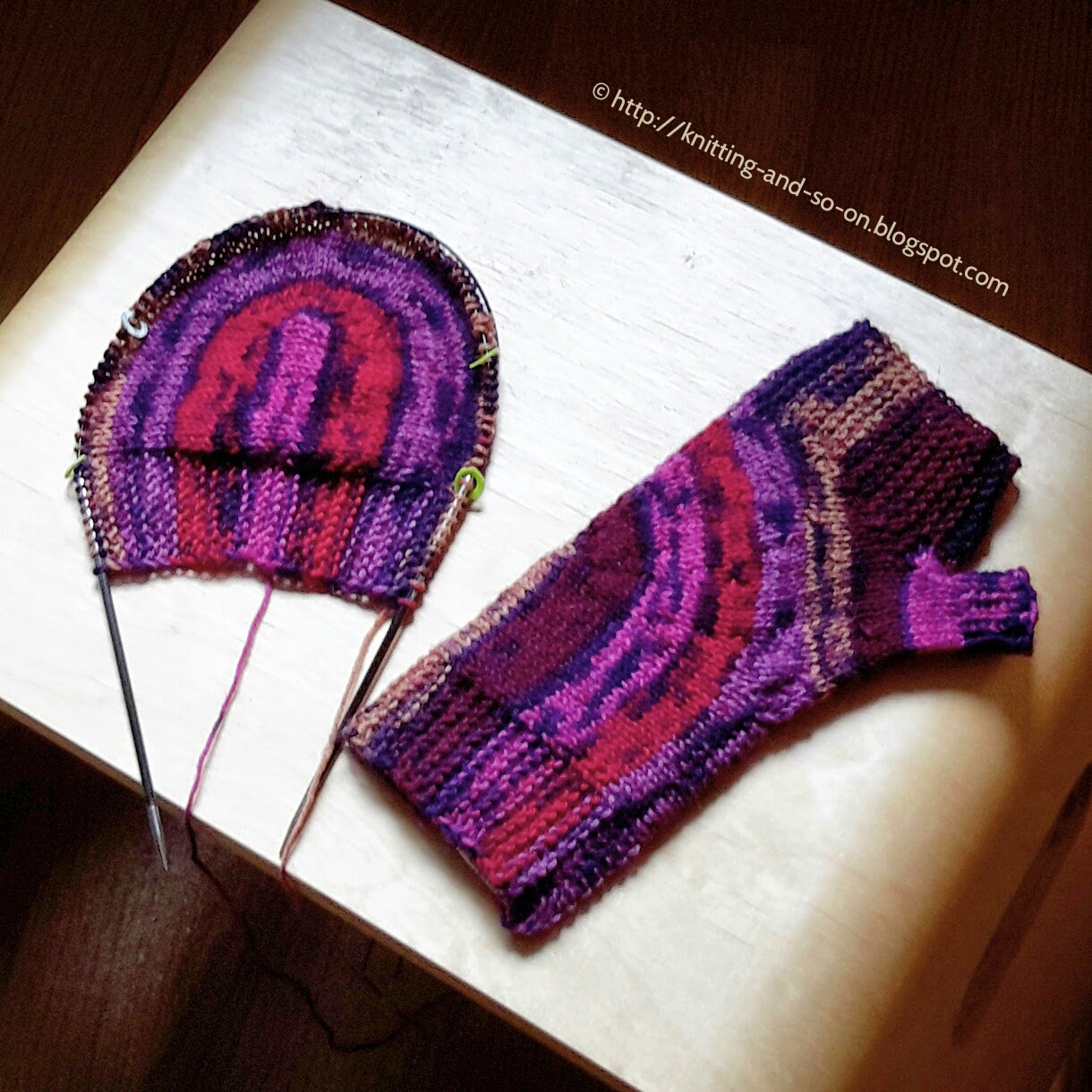 Fingerless Gloves - Knitting Construction