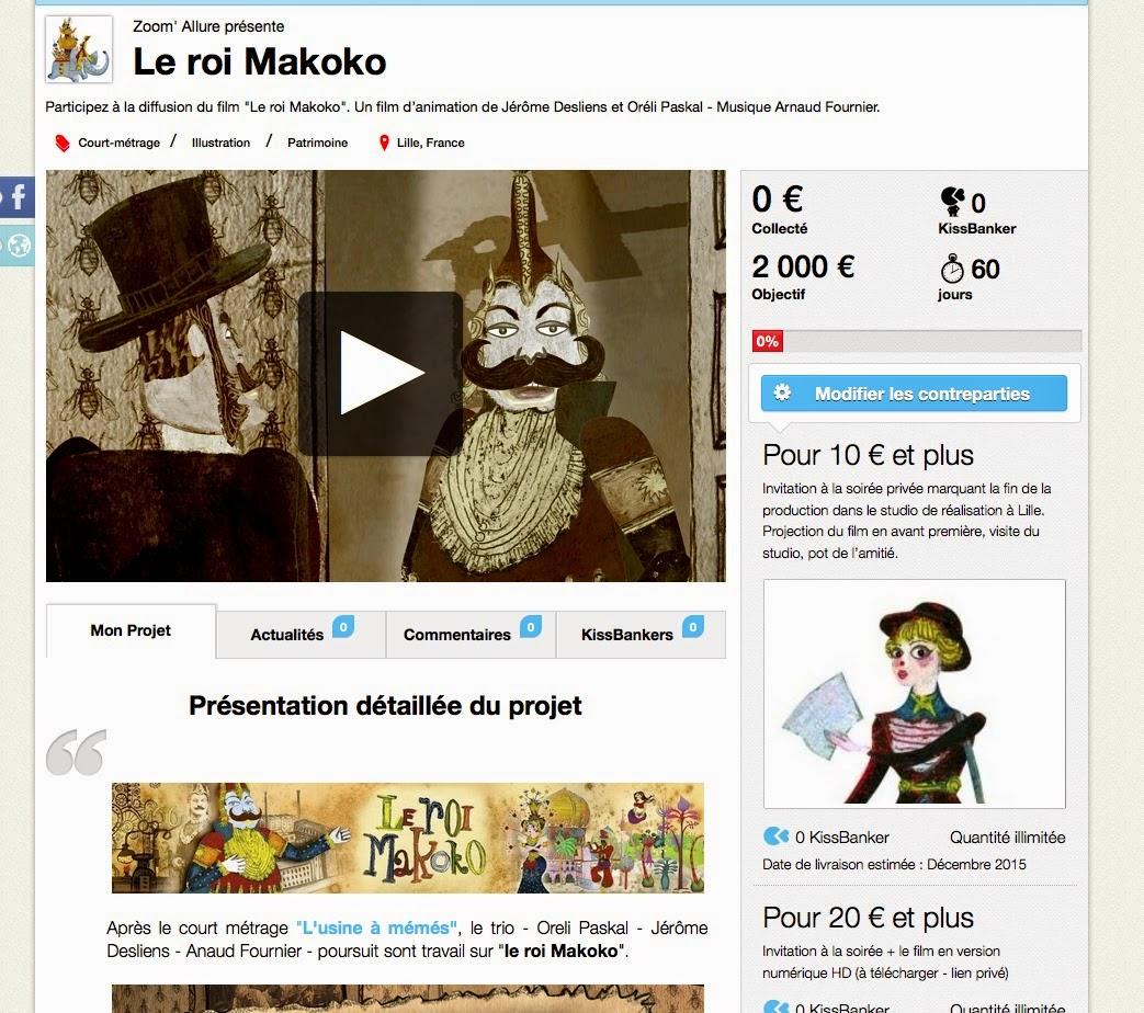 Le roi makoko un court m trage d 39 animation en pr paration - Le roi du matelas roubaix ...