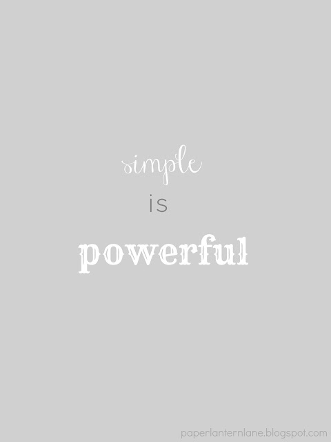 Simple is Powerful