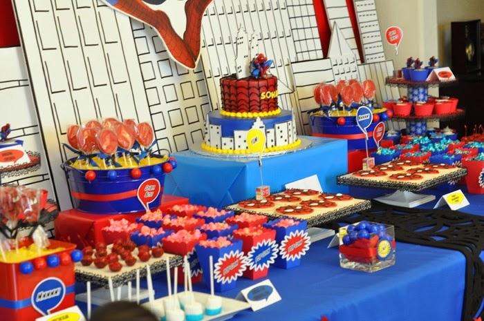 Decoración de Fiestas Infantiles de Spiderman - Hombre Araña ...