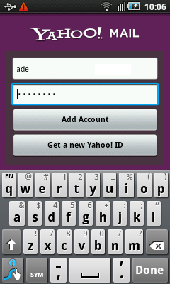 Android Yahoo Mail Setup