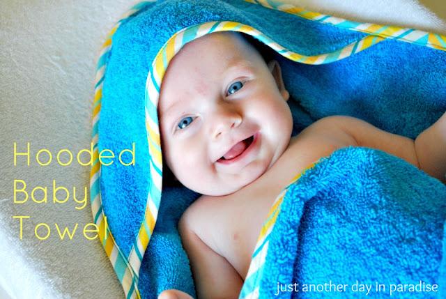 Hooded baby towel pattern