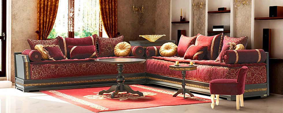 d coration de salon marocain mai 2014. Black Bedroom Furniture Sets. Home Design Ideas
