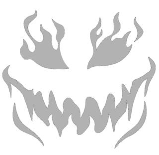 злой шаблон для тыквы