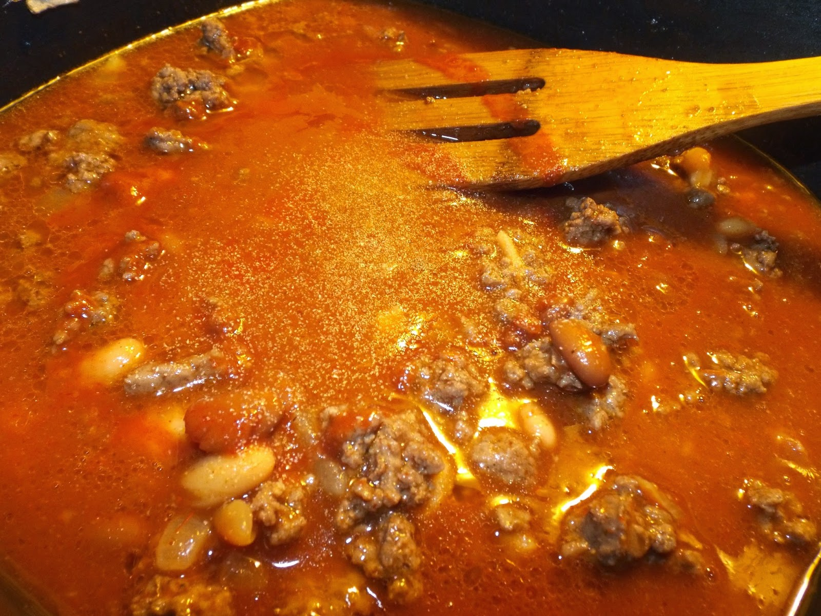 Let Simmer:  Chili with Texas Pete Cha!