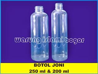 Botol PET Joni 200 dan 250ml Untuk Sirup Jus Buah, Kosmetik dan Tinta